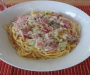Spaghetti Carbonara (light)