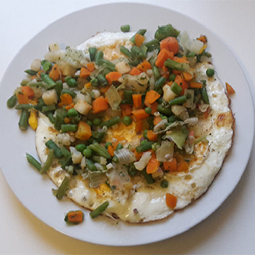 Spiegelei mit Gemüse (Rezept mit Bild) auf Kochen-verstehen.de