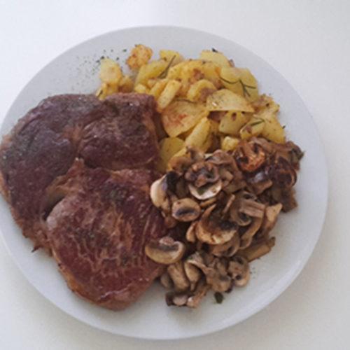 Steak mit Kartoffeln und Pilzen (Rezept mit Bild) auf Kochen-verstehen.de