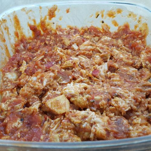 Tomatenfüllung mit Hähnchenfilet auf Kochen-verstehen.de