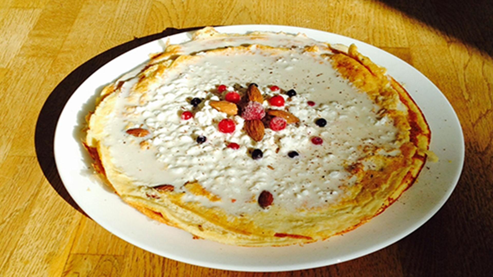 Vanille-Pancakes mit Früchtecreme (Rezept mit Bild) auf Kochen-verstehen.de