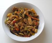 Vollkornnudeln mit Hähnchen und Italienischem Gemüse