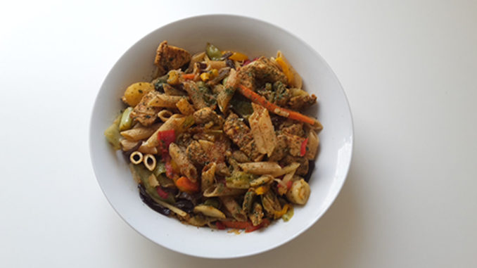 Vollkornnudeln Hähnchen mit Italienischem Gemüse (Rezept mit Bild) auf Kochen-verstehen.de