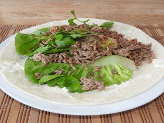 Wrap mit Hackfleisch auf Kochen-verstehen.de